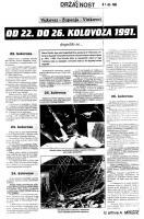 od 22. do 26. kolovoza '91