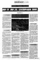 od 17. do 23. listopada '91
