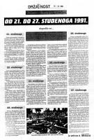 od 21. do 27. studenog '91