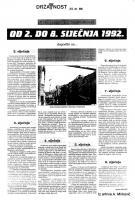 od 2. do 8. siječnja '92