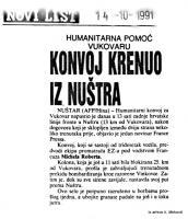 članak Konvoj krenuo iz Nuštra