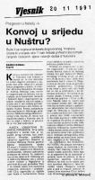 članak Konvoj u srijedu u Nuštru?
