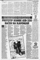 članak Prototip bombe ASB-250 bačen na Slavoniju